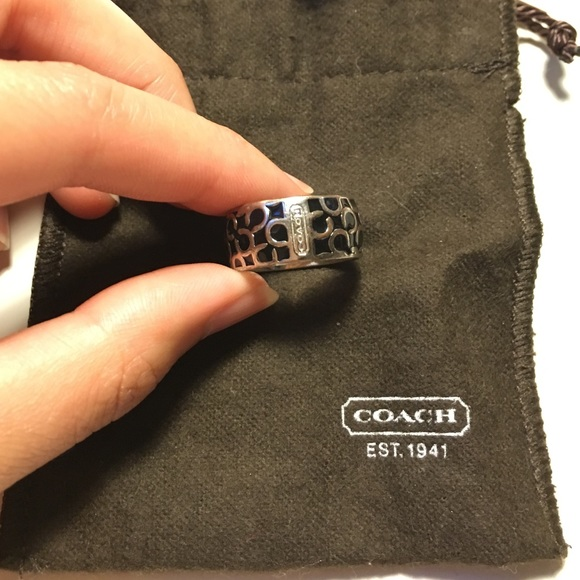 Coach Jewelry - Coach Black Enamel Ring