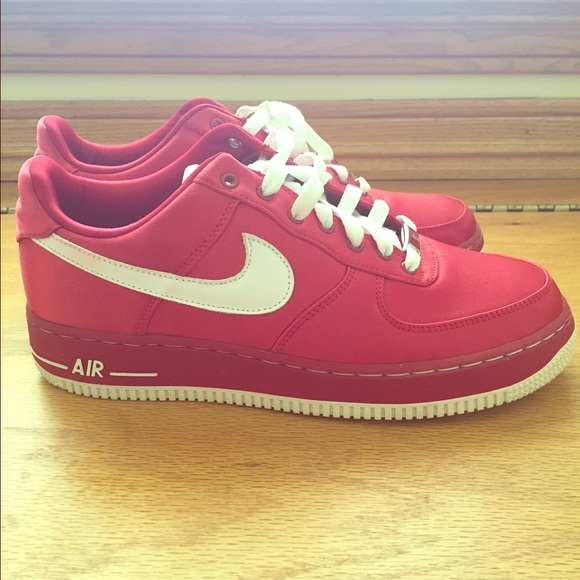 Nike Air Force 1 athletic shoes red satin size 9. M 561c696b291a35567000569d 20eabb6f9f3ff
