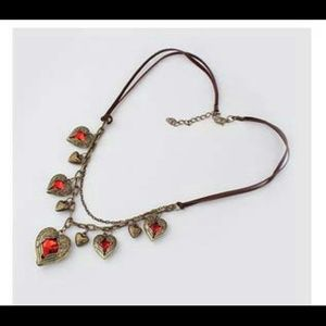 Rima Imar Jewelry - Red Hearts in Vintage Gold