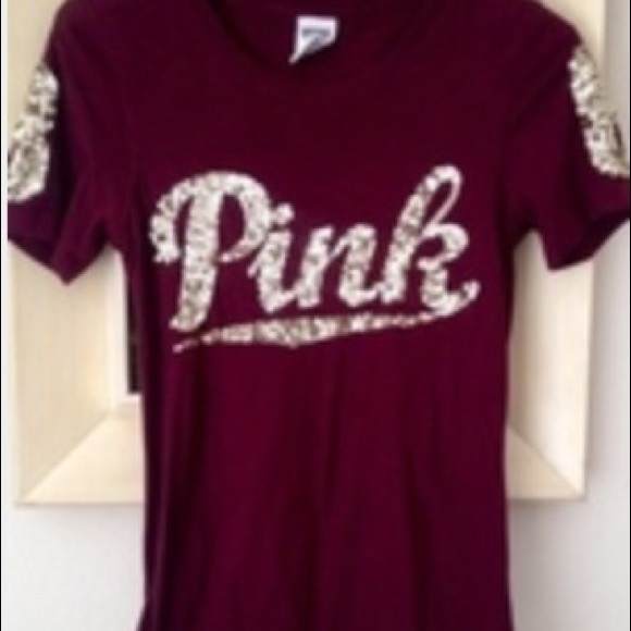 20% off PINK Victoria's Secret Tops - TRADED 🚫🚫 Maroon and gold ...