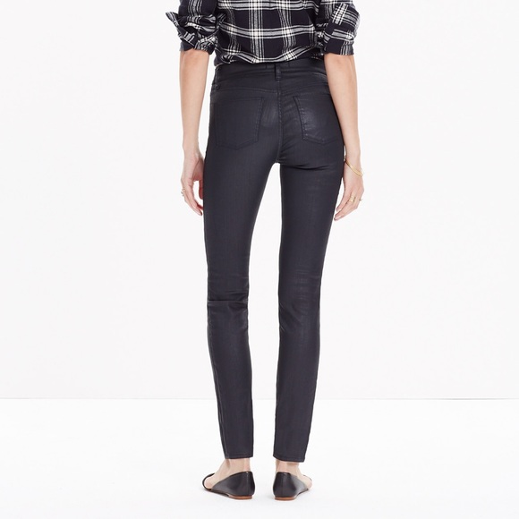 74% off Madewell Pants - Madewell black gloss jeans from Jay's ...