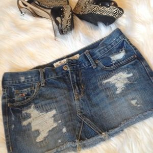Hollister Dresses & Skirts - Hollister jean skirt