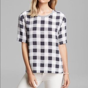 NWT Equipment Logan Contrast Structural Plaid XS