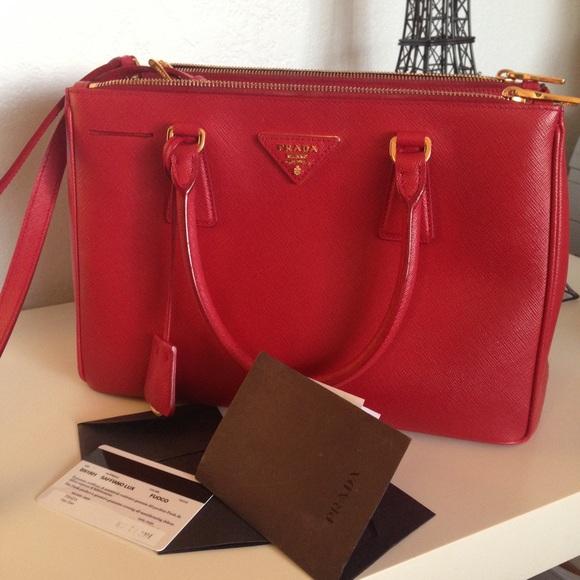 2c20be97047e ... switzerland prada saffiano lux handbag red fuoco tote bag ba42f 0c597  spain ...