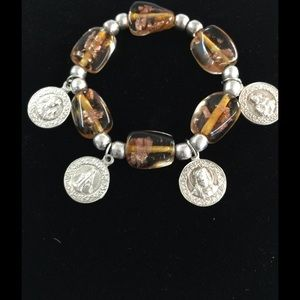 LISTING Mother Mary Charm Bracelet