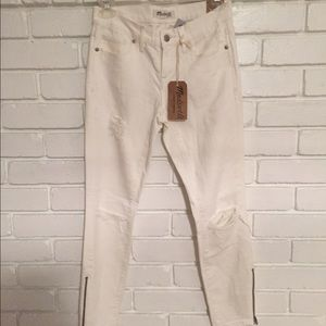 Madewell distressed skinny jeans