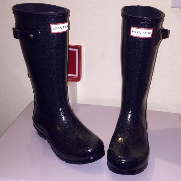 5e66fe8d66eb Hunter Shoes   Original Glitter Finish Rain Boot   Poshmark