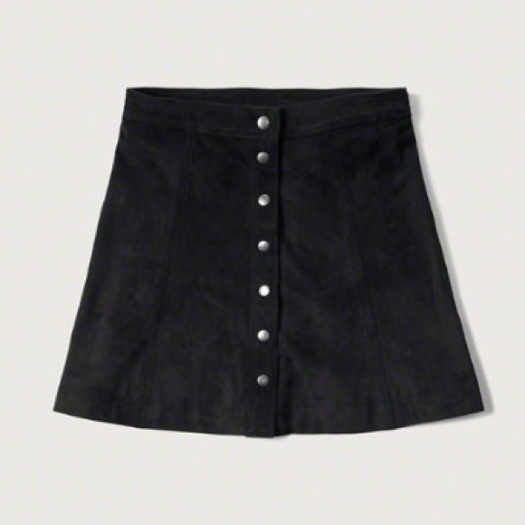 33% off Abercrombie & Fitch Dresses & Skirts - Faux Suede A-Line ...