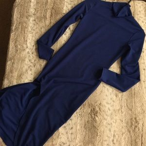 Dresses & Skirts - Fired blue turtle neck evening dress