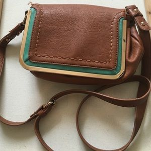 Handbags - Mint and Brown Crossbody