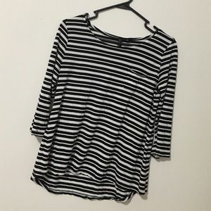 Cynthia Rowley Black and white striped shirt
