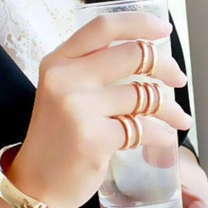 Set of Gold Plated Knuckle Rings