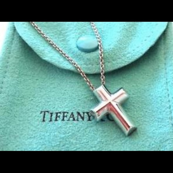 6658665e0 Tiffany & Co Silver Paloma Picasso Cross Necklace.  M_561d80df522b4566c1003485