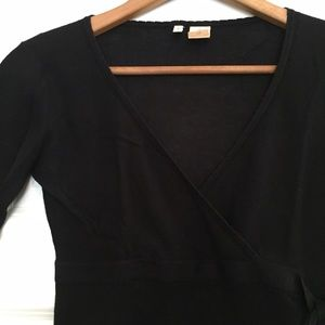 Anthropologie Tops - Anthro MOTH Black Tie Sweater