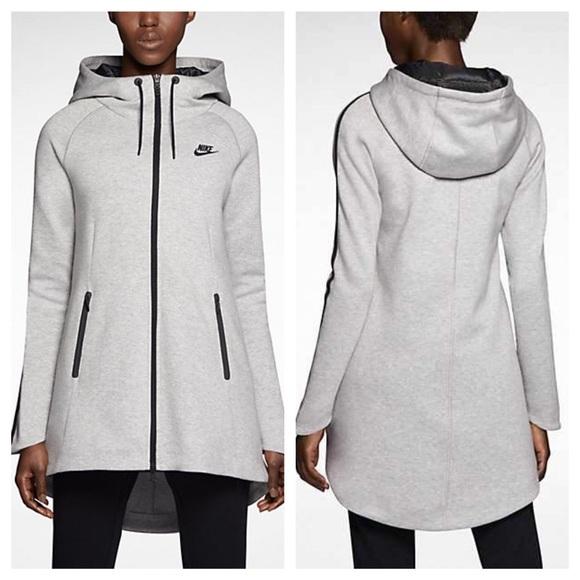 6d0511a7a094 Latest Nike Sportswear Aeroloft Tech Fleece Parka Black for Men On Sale