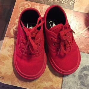 Vans Shoes | All Red Baby Vans | Poshmark