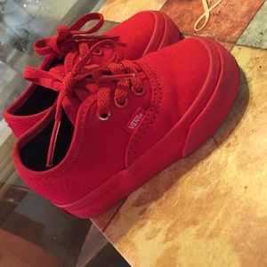 red baby vans shoes