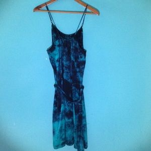 Three Dots Dresses & Skirts - Three Dots Navy and Teal Silk Dress