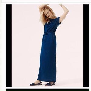 Maxi dress in dark blue
