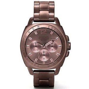 Coach chronograph boyfriend bracelet watch bronze