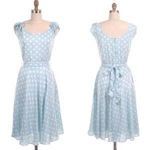 ⭐️RARE⭐️Frock Shop Dotty Tie Dress in Blue!