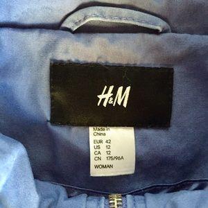 H&M Jackets & Coats - Dark Periwinkle H&M Utility Coat Size 12