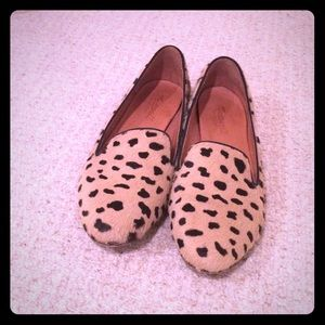 Madewell leopard calf hair loafers
