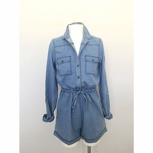 Denim Chambray Romper