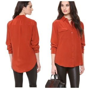 Equipment Tops - Equipment•100% silk burnt orange signature blouse