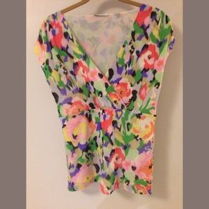 Sleeveless Watercolor Ikat Blouse