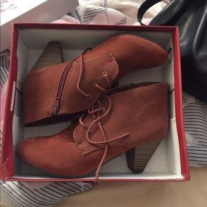 Brand new suede booties