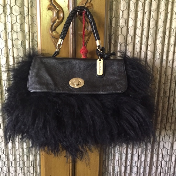 Black Mongolian Lamb Fur Purse 9caeb39c17fd8