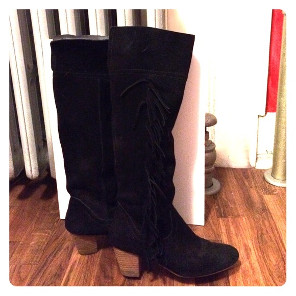65% off Ecote Shoes - Ecote Tall Suede Fringe Boots, size 8 from ...