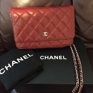 Chanel WOC wallet on chain quilted lambskin