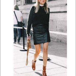 Black Vintage Mini Skirt