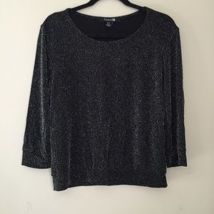 Black sparkly sweater