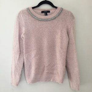 Fuzzy detailed sweater