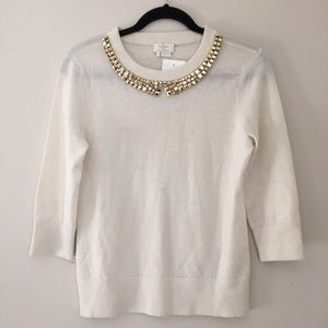 Kate spade  sweater with embellished neckline