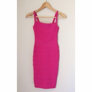 H&M Hot Pink Bandage Dress