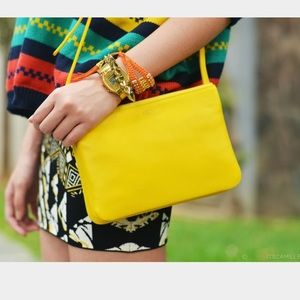 Celine Handbags - Yellow Celine trio BNWT