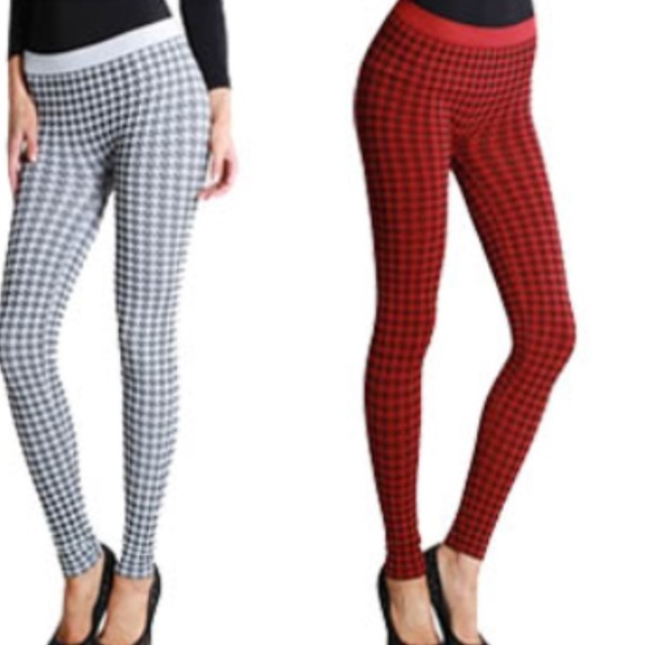 SALE! Super cute red and black leggings ! One Size from Ellie's ...