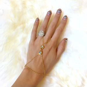 Pamela Love Infinite Moonstone Hand Chain