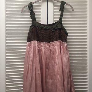 Ryu Ryu Pink And Brown Dresstunic From Sari Top 10