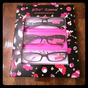5208815b4b9d Hobo Ramonna Leather Shoulder Bag Betsey Johnson Triple Pack Reading  Glasses + Case ...