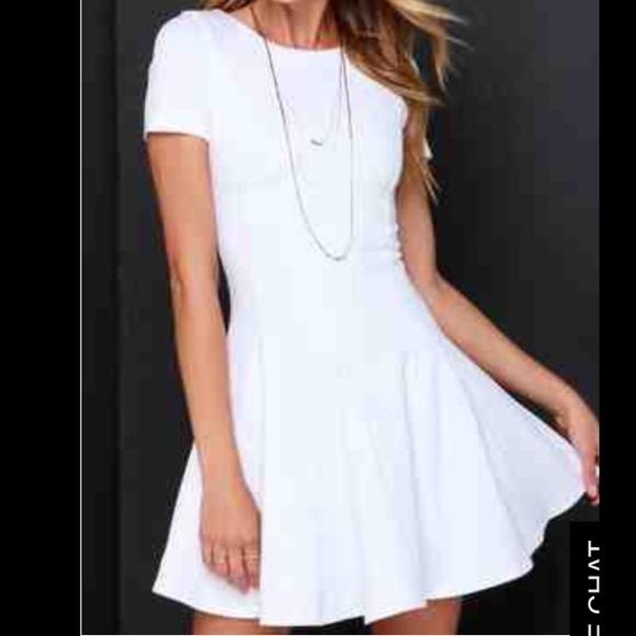 bbcc77f935 White Skater Girl Dress
