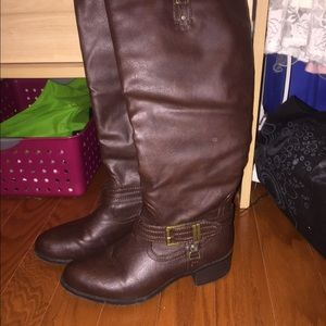 Size 6.5 brown tall boots