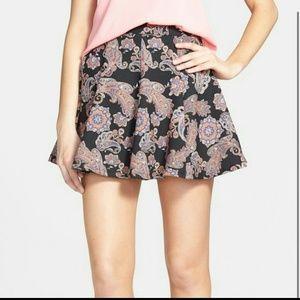 'Lush' paisley skater skirt