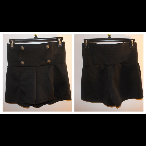 77% off Pants - Black high waisted sailor shorts from Dani's ...