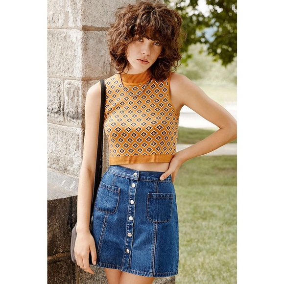 6700e02ee1 Urban Outfitters Skirts | Bdg Denim Buttonfront Skirt | Poshmark