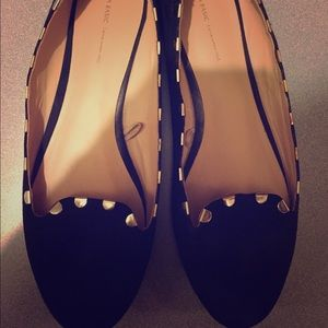 Zara black & gold flats